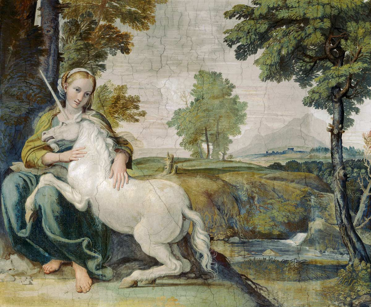 A Virgin with a Unicorn