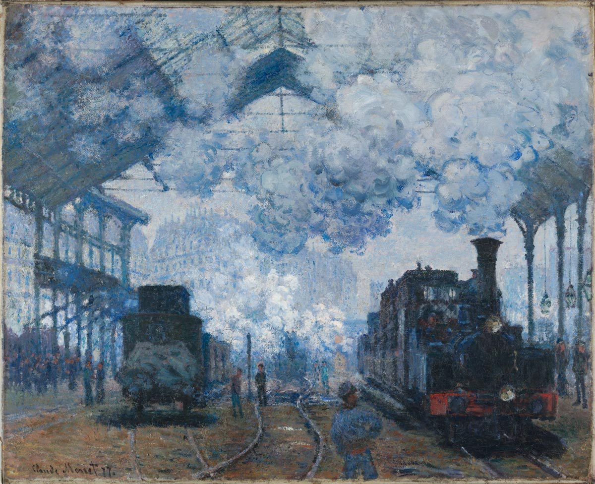 Claude Monet, The Gare Saint-Lazare: Arrival of a Train, 1877
