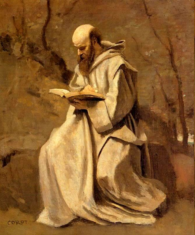 Camille Corot: Monk Reading Book