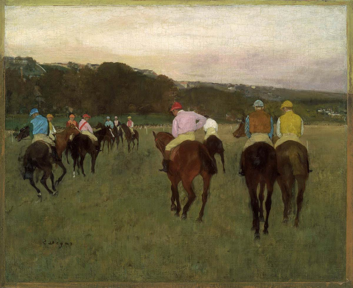 Edgar Degas, Race Horses At Longchamp