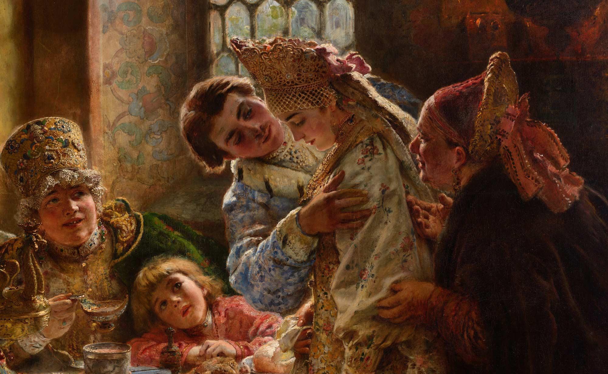 Konstantin Makovsky, Svatební hostina bojarů, 1883