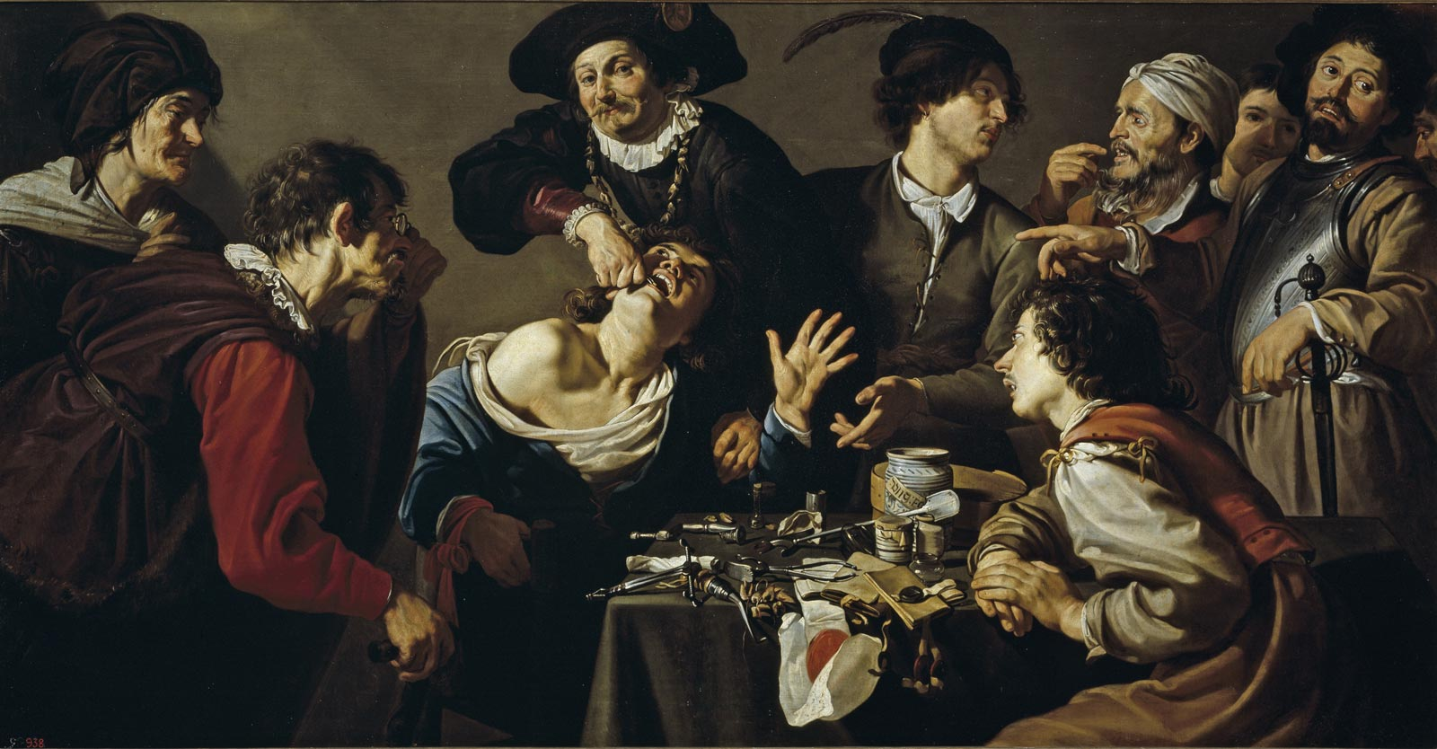 Theodoor Rombouts, The quack tooth puller, 1620 - 1625